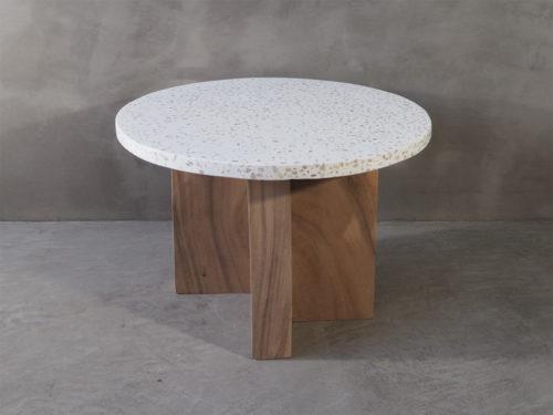Terrazzo bord, sofabord, sidebord, tre