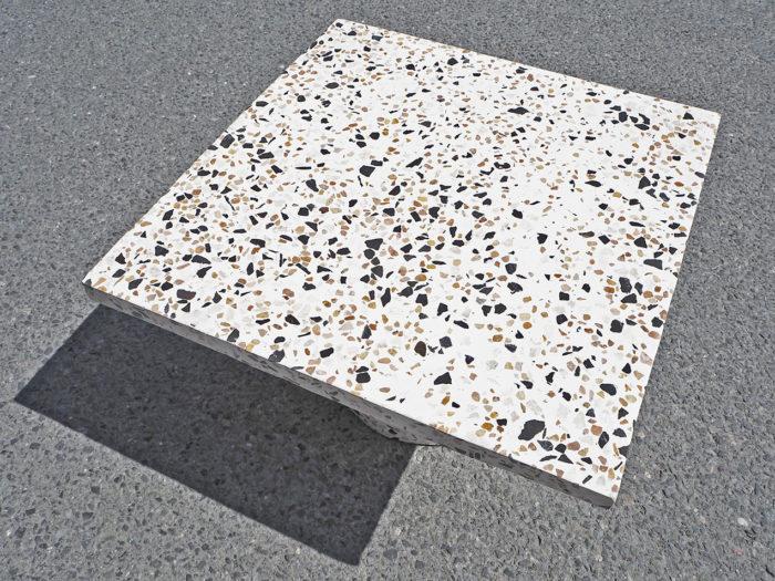 Terrazzo bord, sofabord, sidebord, rosa terrasso, marmor