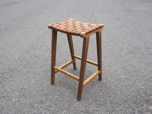 Flettet skinn barstol, by bjørkheim